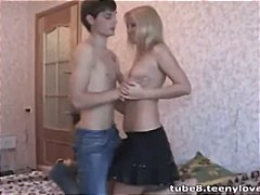 Blonde teeny taking ba...