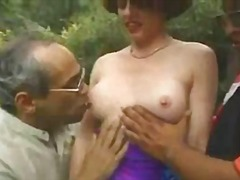 Redhead milf outdoors ... from Alpha Porno