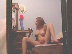 Teen masturbates in fr... from Xhamster