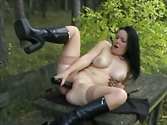 German slut with dildo... from Xhamster