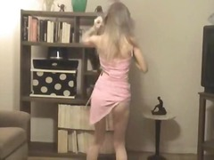 Teen blond stripping