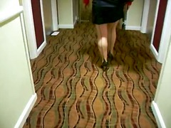 Seamed stockings in hotel from Xhamster