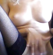 Stockings and pussy on...