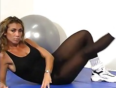 Black Pantyhose workout from Xhamster
