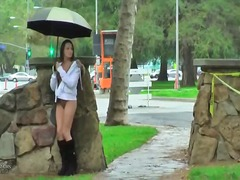 A rainy day flashing from Xhamster