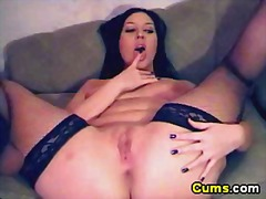 Spreads her legs so wi...