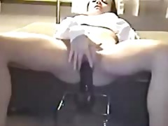 Horny housewife rides ...