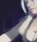 Blonde Girl shows Tits...