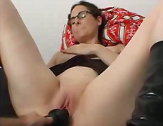 Black dildo orgasmic s...