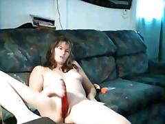 Cute young lady tape v...