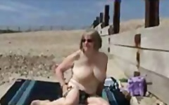 Older lady rubbing her...