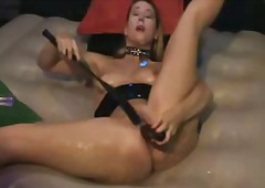 Spanking herself to or... from Xhamster