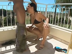 Anal on the balcony