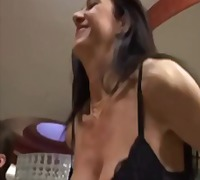 Mom and daughter enjoy...