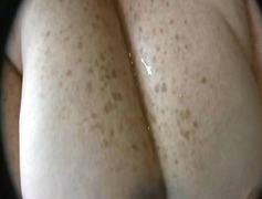 Huge tits getting the ...