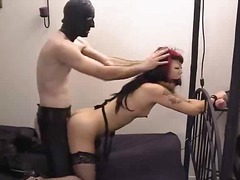 Xhamster - Goth Chick bound and f...