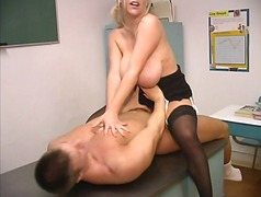 Mature blond with enor...