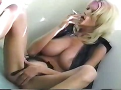 Big Tit Blonde Smoking...