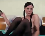 cute brunette masturba... from Tube8