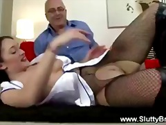 Old pervert fucks hot ...