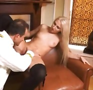 Girl in a skirt finger... from Alpha Porno