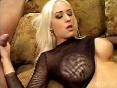 Horny blonde double di...