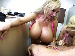 Big titted blond cock ...