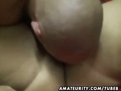 Chubby amateur wife su...