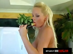 Blonde Cums Hard With ...