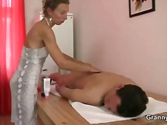 Keez Movies - Old masseuse takes it ...