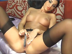 Lorrena masturbating i...