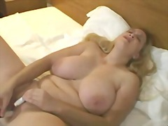 Big Tit Blonde Masturb...