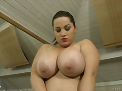 Over Thumbs - Chubby Big tits play w...
