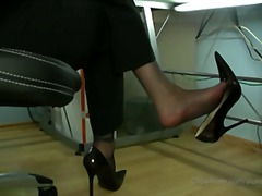 Stocking footjob with ...