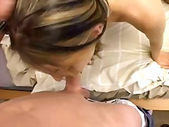 Teen gets cum in pussy