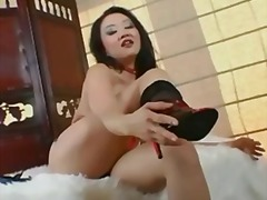 Petite asian teases an... from Keez Movies