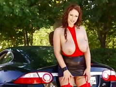 Huge titted milf with ...