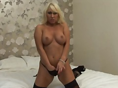 Blonde strip & play from Xhamster
