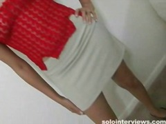 Tall teen in red panti...