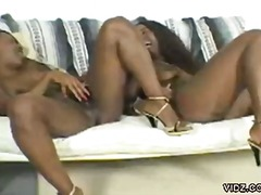 Two Black sluts reveal... from Over Thumbs