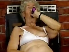 Hairy Granny with dildos from Xhamster