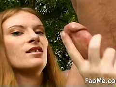 Sexy slut wanks the co...