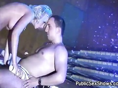 Soaking wet blonde ple...