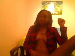 Ebony stunner playing ... from Xhamster
