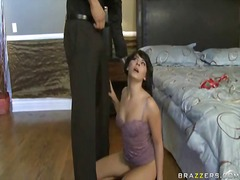 Brunette is glad to li... from Yobt TV