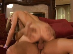 Busty blonde caught ma...