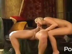 HOT BLONDE GETS A LONG...
