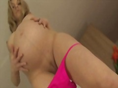 Pregnant blonde with b...
