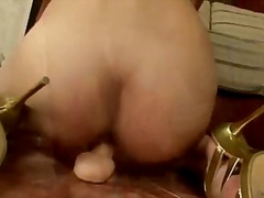 Huge dildo in her tiny...