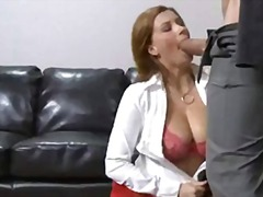 Horny office whore Sar... from Yobt